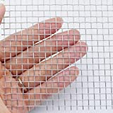 Stainless Steel Wire Mesh Screen 1 Roll - Aperture 4.5mm, Wire Diameter 0.7mm, 12 Wide x 24 INCH Roll - # 5 Mesh: more info
