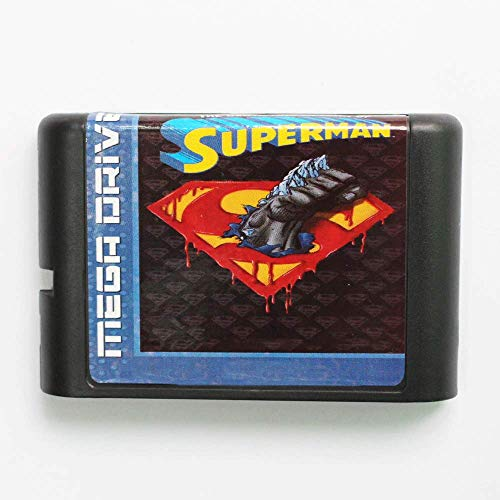 The Death And Return Of Superman EU/US Shell Game Cartridge 16 bit MD Game Card ()