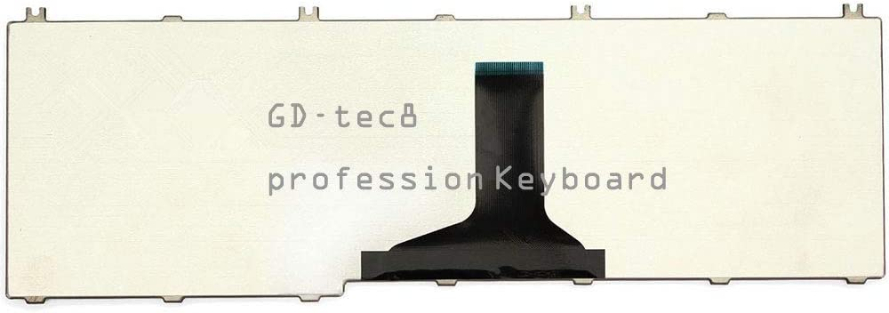 Laptop Keyboard Compatible for Toshiba Satellite C655-S5211 C655-S5212 C655-S5221 C655-S5225 C655-S5229 C655-S5231 C655-S5235 C655-S5237 C655-S5240 C655-S5301 C655-S5305 US Black