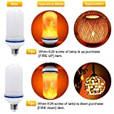 CPPSLEE - LED Flame Effect Light Bulb - 4 Modes with Upside Down Effect -2 Pack E26 Base LED Bulb - Flame Bulb for Halloween Home/Hotel/Bar Party Decoration(2 Pack)