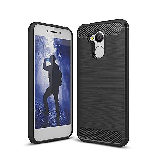 Funda Huawei honor 6X,Alta Calidad Anti-Rasguño y Resistente Huellas Dactilares Totalmente Protectora Caso de Cover Case Material de fibra de carbono TPU Adecuado para el Huawei honor 6X A