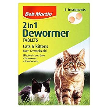 Bob Martin 2 en 1 Antihelmíntico Tabletas para los gatos y de los gatitos: Amazon.es: Jardín