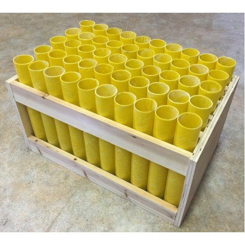 "Fireworks Mortar Rack Vertical 50 Shot With 1.75"" Fiberglass Tubes Included"