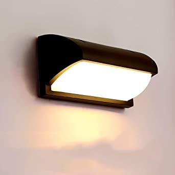 Zkicc Lámpara LED de 12W para exteriores Lámpara de pared de ...