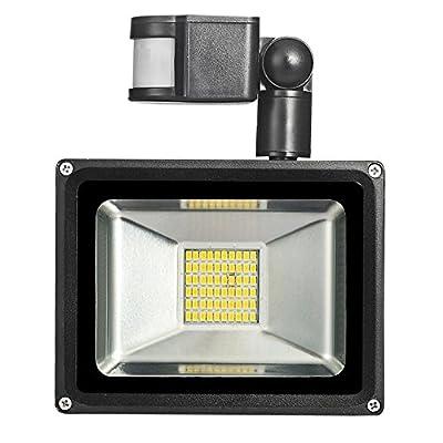 Warm White, 30W, Germany : 30W 220V-240V PIR Infrared Motion Sensor LED Flood Light 3300LM PIR Motion Sensor LED Floodlight LED Lamp For Outdoor Lighting