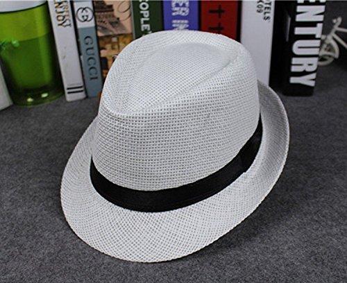 Mackur Enfants Bébé Panama Chapeau de paille Chapeau de soleil été Garçon  ou Fille Anti-soleil Plage Chapeau Chapeau pour Été Plage Loisirs Voyage  Chapeau  ... 3e852d6c92f