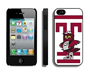 Cool For Apple Iphone 4/4S Case Cover s Cover Ncaa Temple Owls 07 Personalized For Apple Iphone 4/4S Case Cover Case