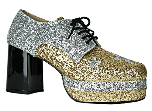 Cosplay Festival 1960s 1970s Style Groovy Rave Men's Shoes S Black