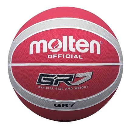 MOLTEN - Balón de baloncesto (talla 6), color rojo, blanco y plata ...
