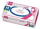 Medline Generation Pink Nitrile Exam Gloves, Disposable, Powder-Free, Pink, Medium, Case of 2500