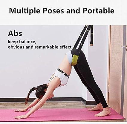 QUBABOBO - Correas de Yoga para Adelgazar y Yoga, Cinturones de Yoga para el hogar, simuladores, Pilates y Cuerda elástica