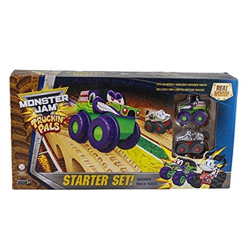 Truck Pal - Truckin' Pals Monster Jam Wooden Truck Tracks & 2 Limited Edition Trucks Starter Race Set