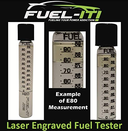Glass Laser Etched Ethanol Content Fuel Tester for Ethanol, E85, Gasoline by Fuel-It! (Image #1)