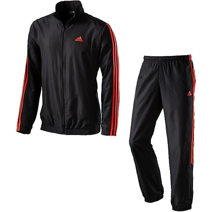 adidas Tentro - Chándal para hombre, color negro y rojo Talla:8 ...