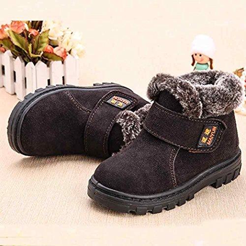 Kingko® 1-6 Jahr Baby warme gezeichnete Schnee-Aufladungen Art- und Weiseflache Wintermartinaufladungen Kaffee