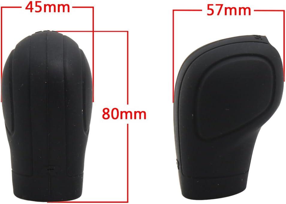 nero Morbido silicone antiscivolo Car Shift Knob Copri leva del cambio Protector con design Trepanning