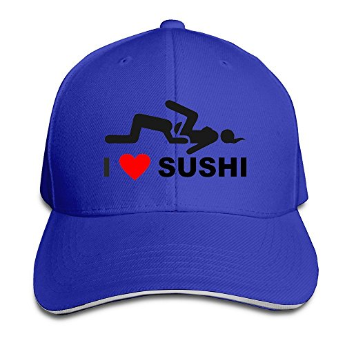 I Love Sushi Trendy Flat Bill Cap Headwear