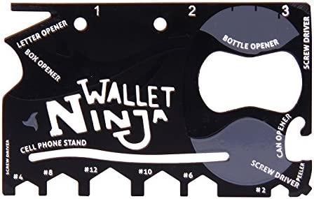 Tarjeta multiherramienta 18 en 1 Wallet Ninja con abridor de ...
