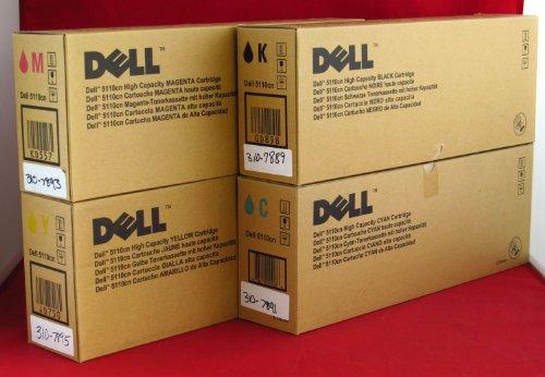 GENUINE DELL 5110cn HIGH CAPACITY TONER CMYK SET for Dell 5110cn Printer