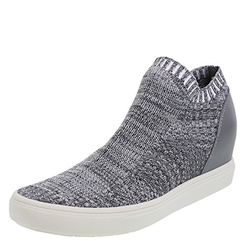 Brash Women's Grey Elisha Knit High-Top Sneaker 8 Regular