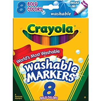 Crayola 8 Ct Bold Broad-Line Washable Markers
