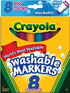 Crayola Broad Line Washable Markers-Bold Colors 8/Pkg