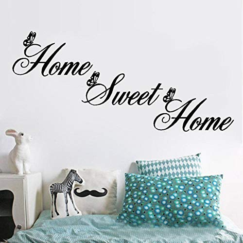 Quietcloud Art Wall Stick Sweet Home Proverb Wall Sticker Living Room Bedroom Wallpaper Decals Art Decor Black by Quietcloud (Image #3)