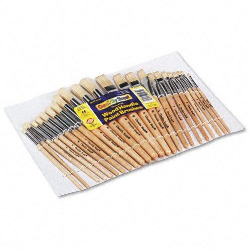 Wood Brushes Natural Bristles Round