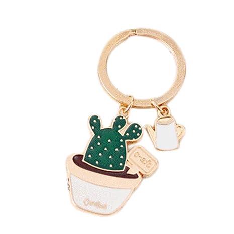 Emorias - Llavero con forma de cactus creativo (1 pieza ...
