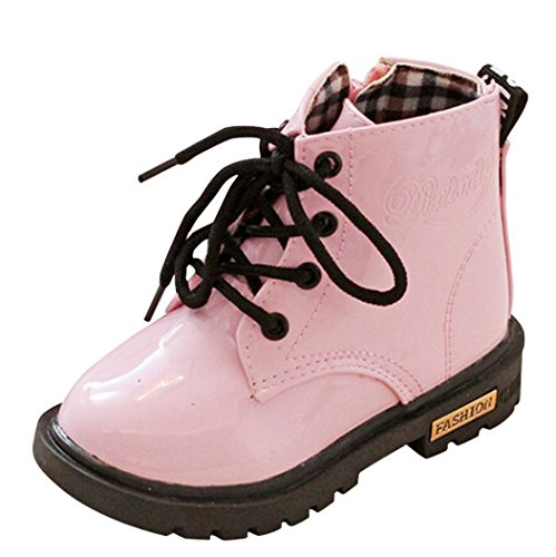 Outdoor Kids Boots (Voberry Baby Toddler Kids Children Girls Boys Outdoor Sneakers Leather Boots (2-2.5T, Pink))