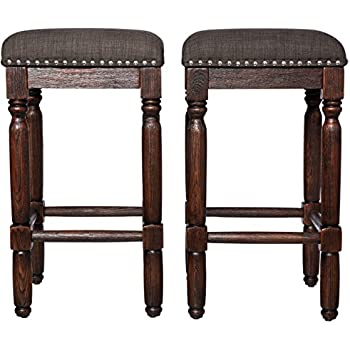 Amazon Com Rustic Style Vintage 26 Inch Wooden Backless