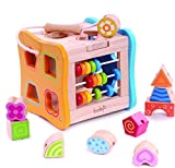 Wooden Shape Sorter - Lacing Beads for Toddlers #1 Skill...