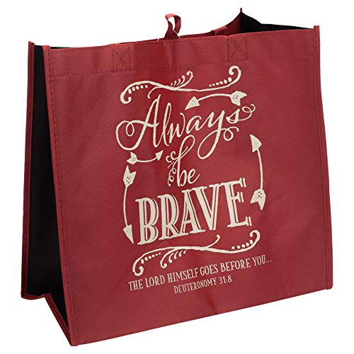 Always Be Brave Lord Goes Before 12 x 12 Inch Reusable Eco-Friendly Tote Bag Pack of 2