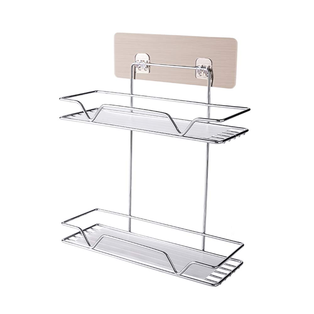 Gnehcil Two Layers-Bathroom Shelf Bathroom Toilet Bathroom Vanity Storage Basket