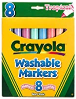14 Pack CRAYOLA LLC FORMERLY BINNEY & SMITH WASHABLE MARKERS TROPICAL 8 PK