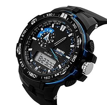 Amazon.com: Relojes de Hombre Sport LED Digital Military Water Resistant Watch Digital Men De Hombre Para Caballero RE0020: SkmeiWatchCo: Watches