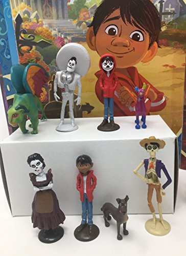 Disney Pixar Coco Movie Day of the Death Deluxe Mini Cake Toppers Cupcake Decorations Set with 12 Figures by Disney Coco (Image #2)