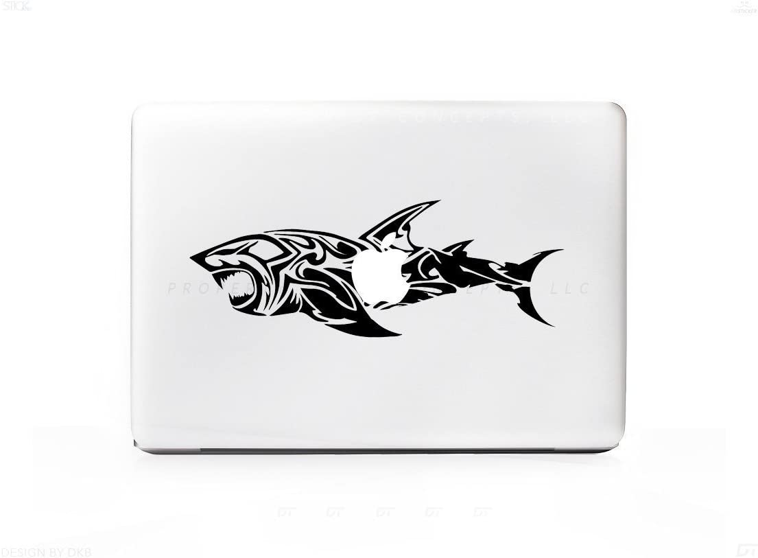 Tribal Great White Shark Sticker Decal For MacBook Pro