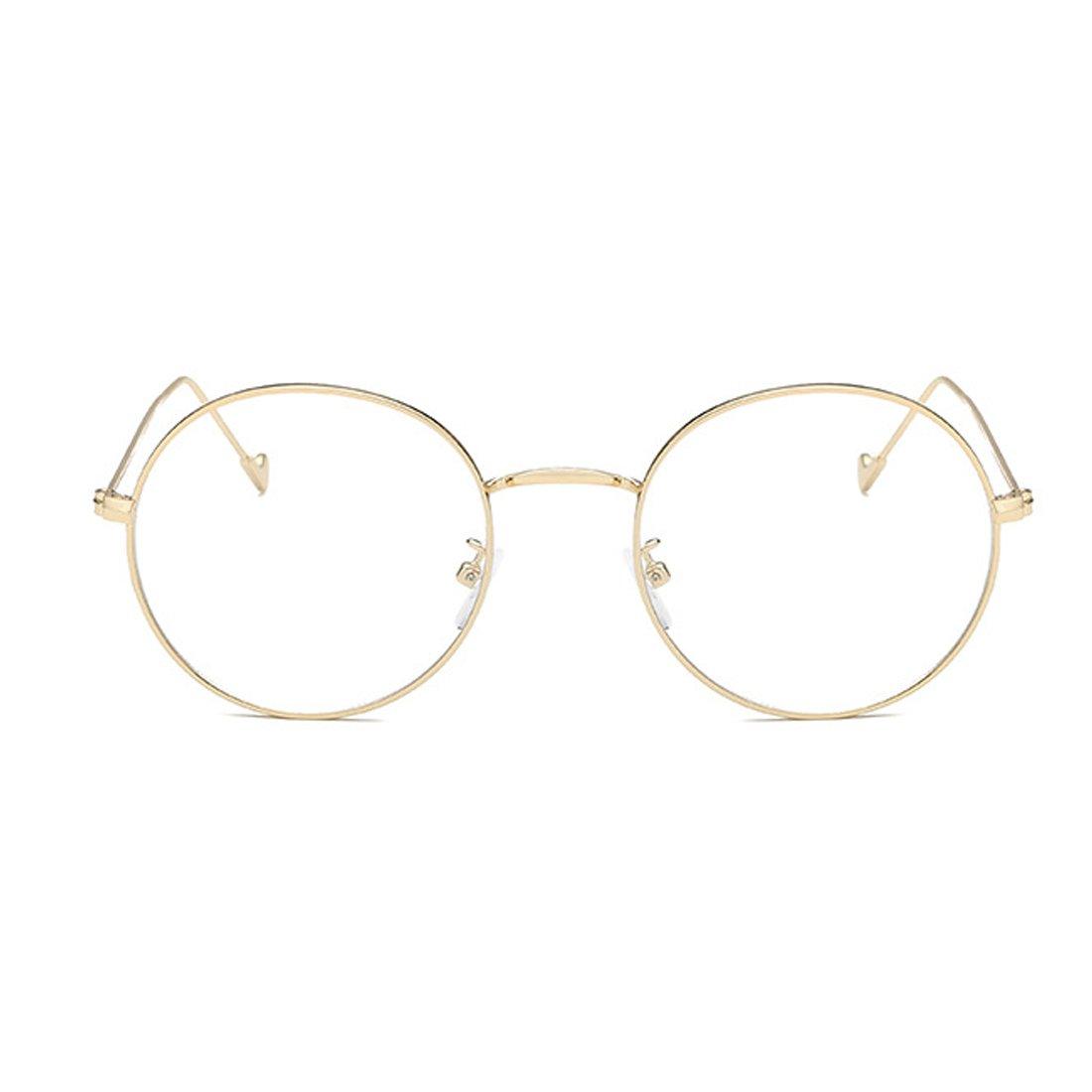 Huicai Mann und Frau Myopie Brille Retro Runde Brille Mode Brille ...