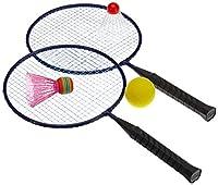 Hudora 76046 - Mini Badminton Set mit 3 verschiedenen Bällen