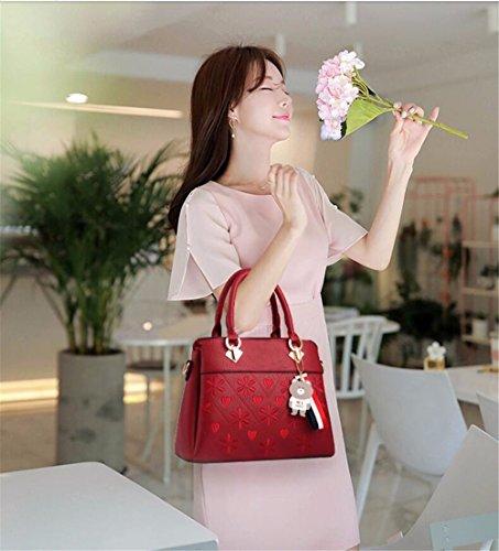 CCZUIML Gran Rojo rojo de de Crossbody Hombro Mujer Capacidad para Bag Bolso rqwYgrH
