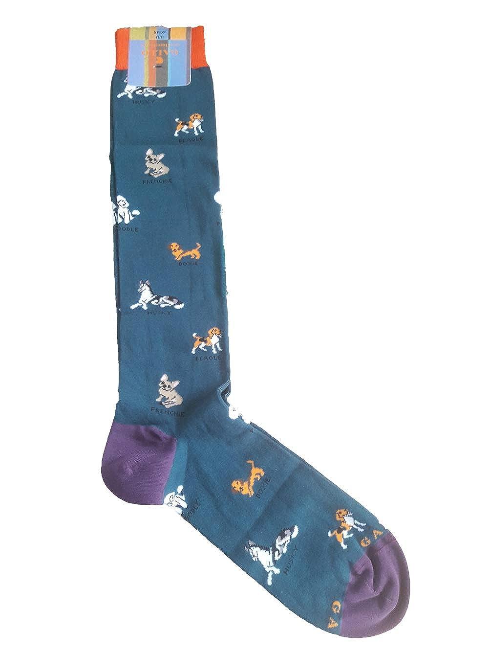Gallo calze uomo lunghe fantasia cani tg.40-45 ap508568