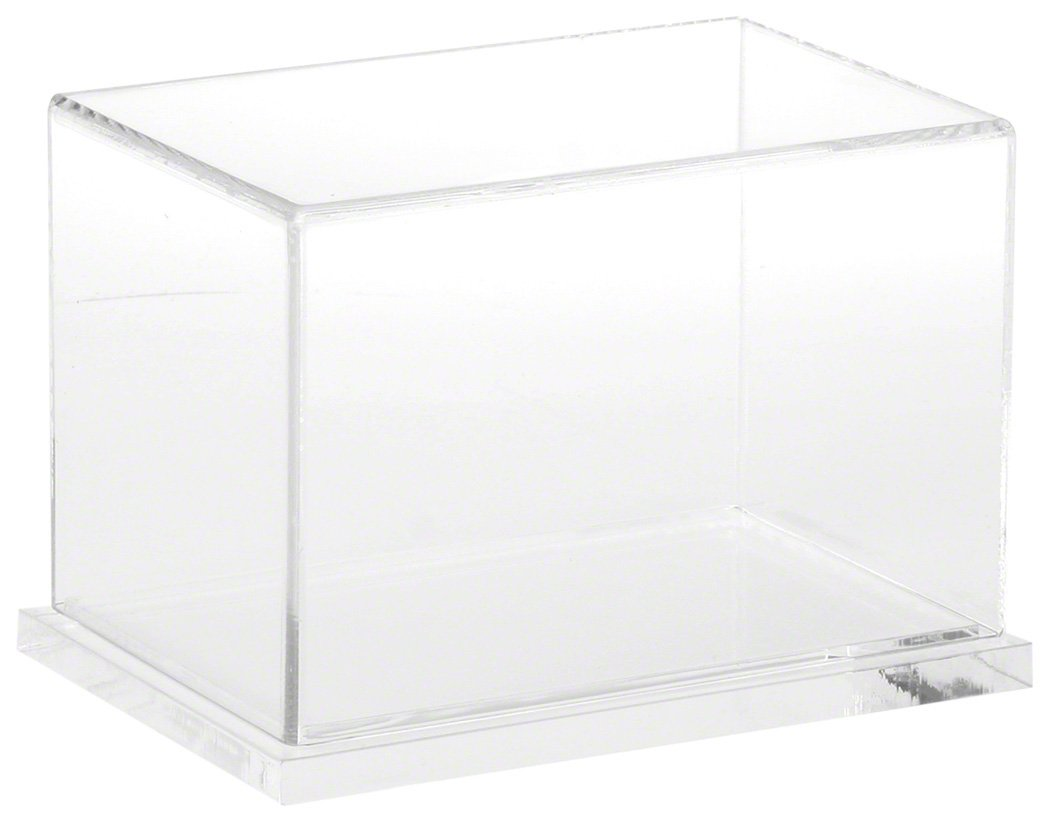 Plymor Clear Acrylic Display Case with Hardwood Base, 6 W x 4 D x 4 H