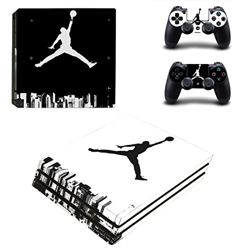 L'Amazo Best Sport fans American football basketball baseball PS4 Pro Designer Skin Game Console System p 2 Controller Decal Vinyl Protective Covers Stickers for PlayStation 4 Pro (Air Street)