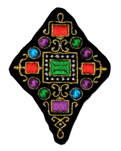 Gold Ancient Royal Design Decoration DIY Applique Embroidered Sew Iron on Patch MA-02 ()