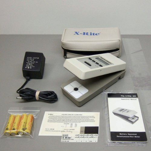 X-rite 341 Transmission Densitometer Xrite Xlnt Portable Excellent Condition