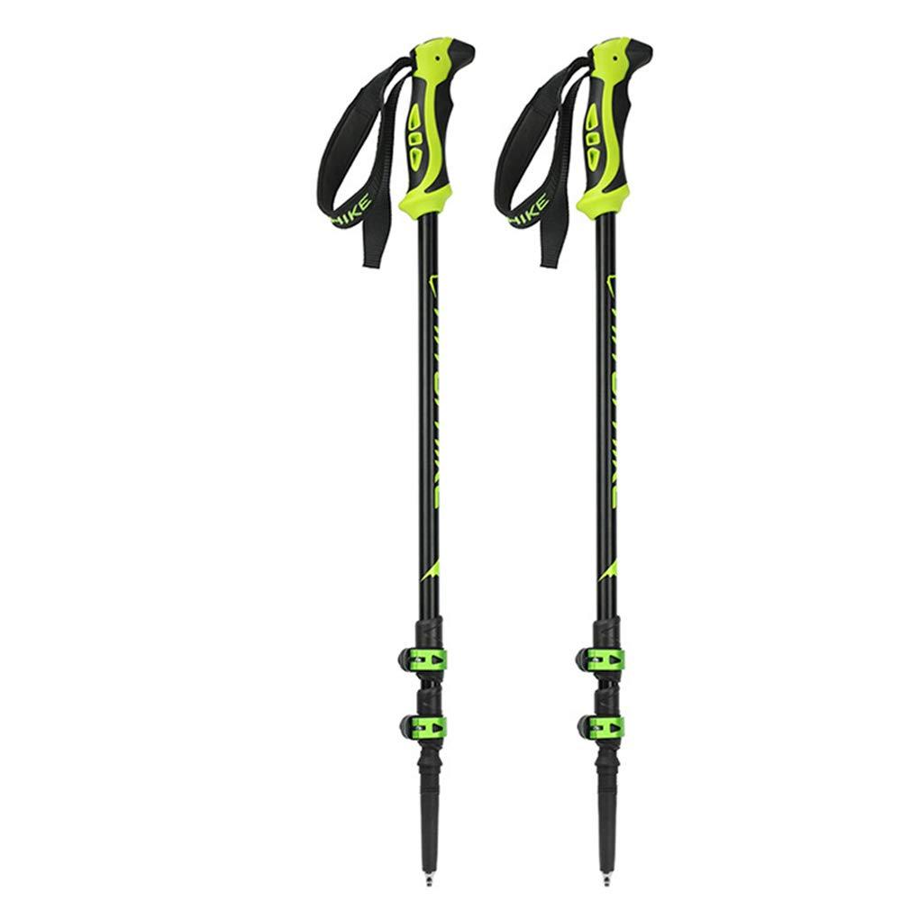 Yhjklm Einstellbarer Skistock Skistöcke Collapsible Quick Lock Trekkingstöcke Aluminium Skistöcke 65cm bis 135cm EIN Paar Einstellbare Wander- oder Spazierstöcke