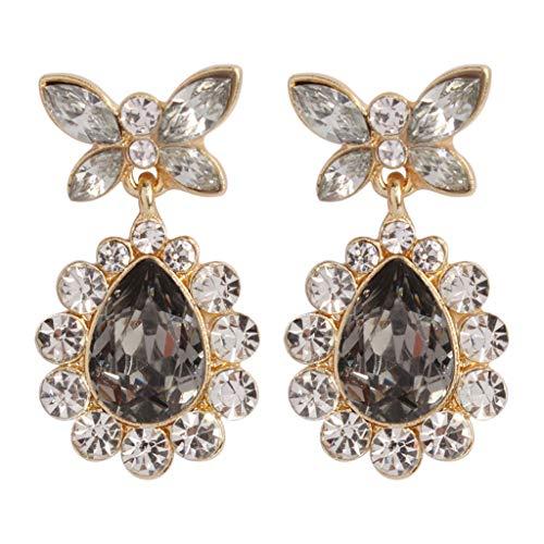 callm Woman Girl Earrings, 2019 Hot New Fashion Cubic Zirconia Wedding Teardrop Tone Dangle Earrings