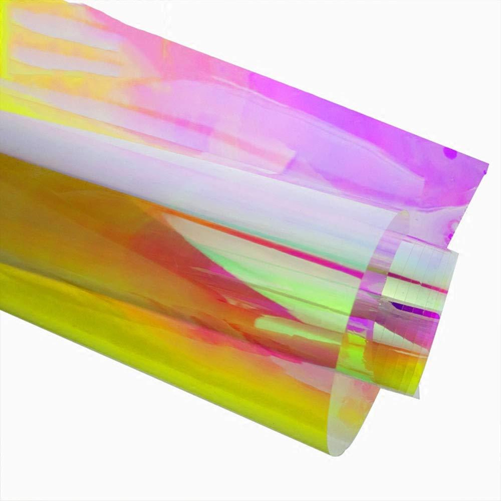 HOHOFILM カメレオン カラー装飾ウィンドウフィルム レインボー効果 玉虫色 粘着性 窓 ガラス用着色 17.7