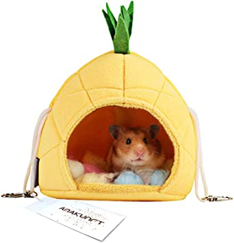 2 Pack of Hamster Bedding Chinchilla Cage Accessories Hammock Hamster House Toys for Small Animal Sugar Glider Squirrel Chinchilla Hamster Rat Playing Sleeping